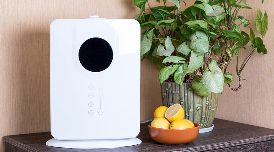 air purifier in home