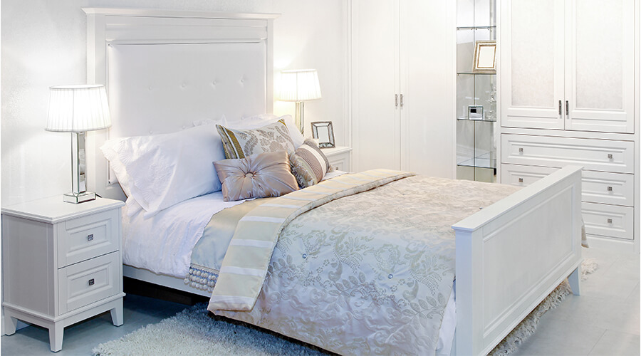 modern luxury tidy bedroom