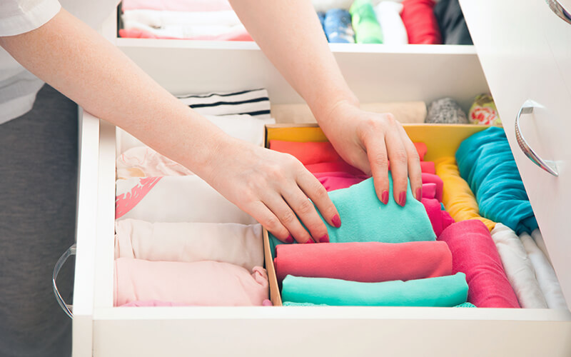Organising clothes drawer